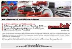 """germanBelt® - Anzeigenkampagne """"Ihr Spezialist für Förderbandtrommeln"""""""