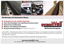 """germanBelt® - Anzeigenkampagne """"Förderung auf kleinstem Raum"""""""