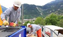germanBelt Montageteam im Einsatz bei Fördergurtverbindung