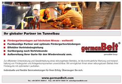 """germanBelt® - Anzeigenkampagne """"Ihr globaler Partner im Tunnelbau"""""""