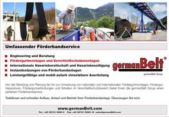 """germanBelt® - Anzeigenkampagne """"Umfassender Förderbandservice"""""""