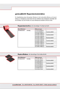 germanBelt® Repair materials flyer