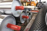 germanBelt® Förderbandtrommel-Produktion Schweißhalbautomat